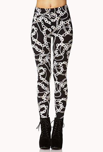 Luxe Chain Leggings | FOREVER 21 - 2073439998