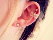 jewels,earrings,cartilage,bow