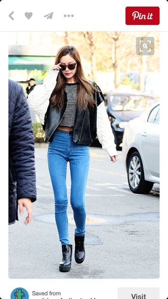 jeans nana orange caramel im jin ah kpop kdrama korean style korean idol idol celeb streetstyle after school nana korean fashion kop idol korean street style