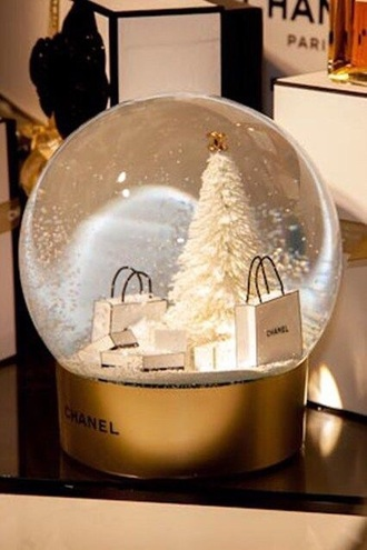 home accessory chanel snow globe christmas