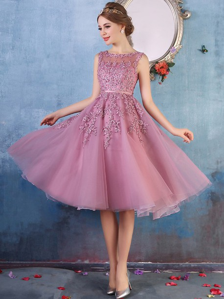 Dress: prom, prom dress, pink, pink dress, purple, violet, violet ...