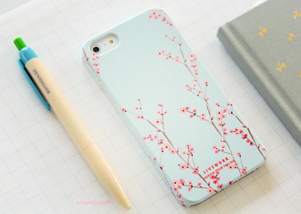 jewels iphone iphone case iphone cover korean fashion kawaii cute tumblr weheartit phone cover nature light blue flowered