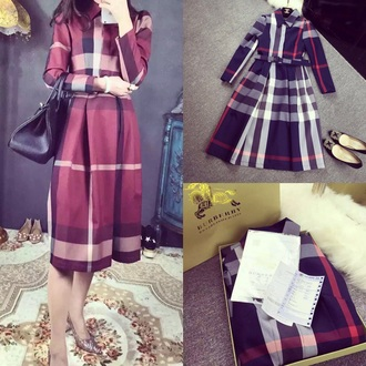 dress burberry long dress fashion luxury winter dress 2015 free shipping