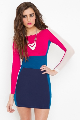 dress yvonne colorblock dress