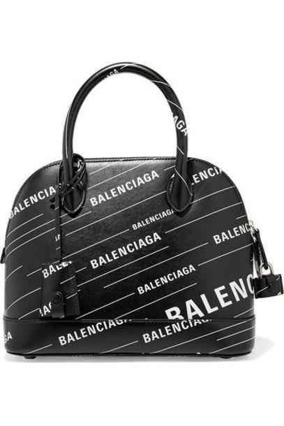Balenciaga - Ville Printed Leather Tote - Black