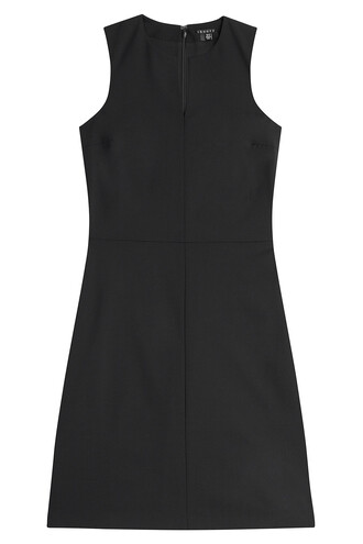 dress shift dress wool black