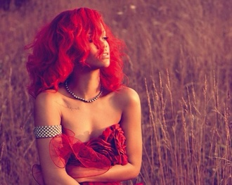dress jewels red dress rihanna