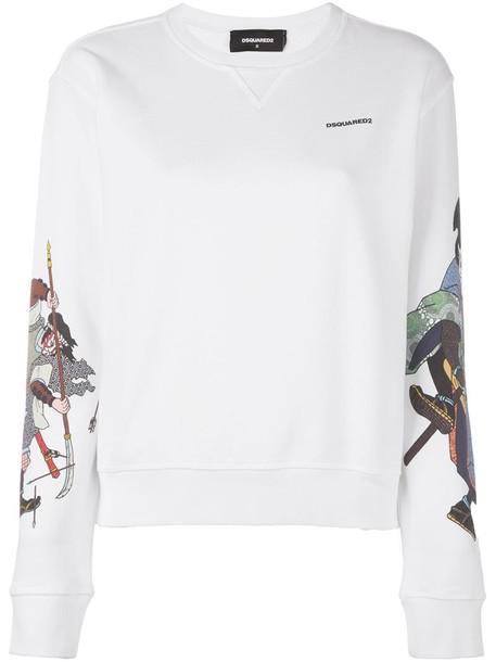 Dsquared2 sweatshirt women white cotton sweater