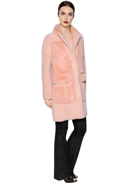 BLANCHA coat fur pink