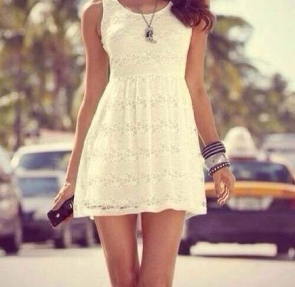 white beauty sexy swag summer dress white dress
