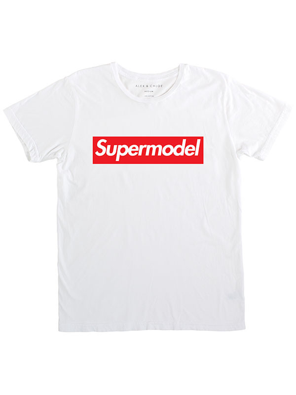 t-shirt alex and chloe supermodel supreme supreme beanie supreme t-shirt supreme sweater shirt t-shirt super white celfie
