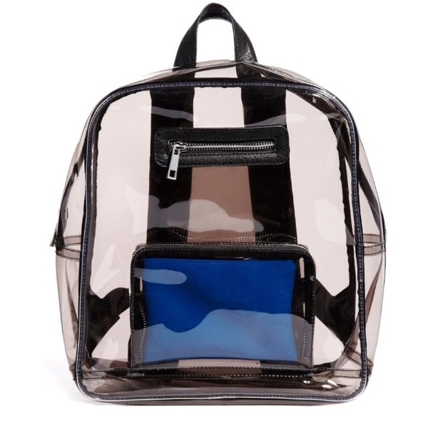 bag backpack clear plastic cute transparent  bag