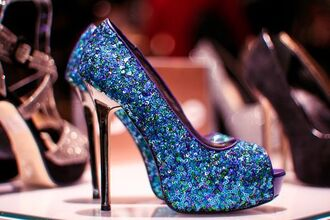 shoes sequins pumps