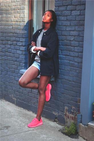 jeans nike nike running shoes sportswear women pink dress pink dress girl beautiful girl brand rohse nike roshe run nike roshe running running shoes seakers shoes menswear clothes denim shorts