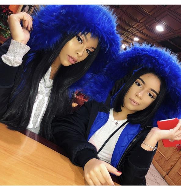 jacket blue fur