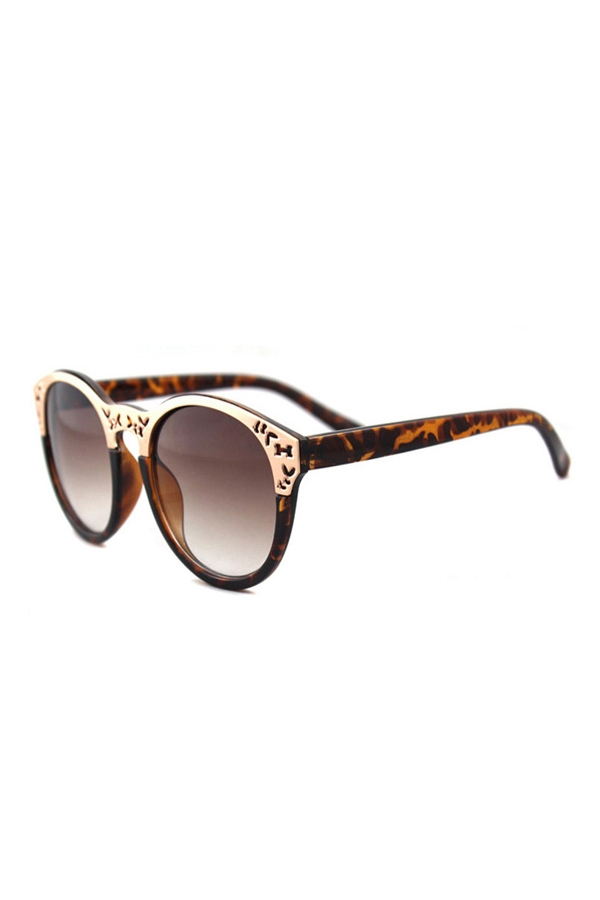 Leopard Korean Retro Women's Fashionable Sunglasses, Free shopping - FOYMALL