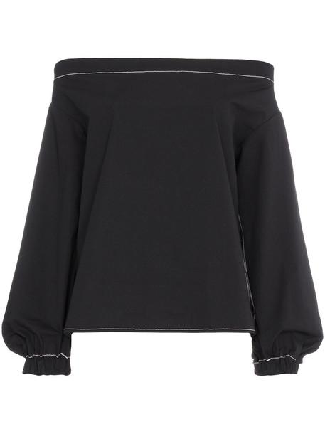 Rejina Pyo blouse women cotton black top