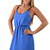 Blue Day Dress - Periwinkle Day Dress with Stringy | UsTrendy