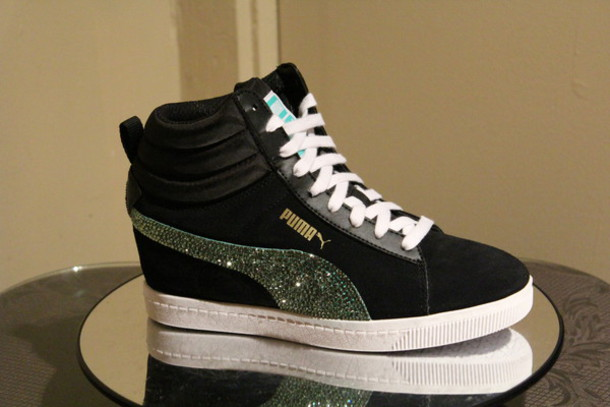 bling bling sneakers puma suede puma swarovski sneakers bling nike crystal sneakers  wedge sneakers http