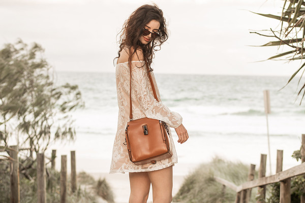 bag leather bag see through dress off the shoulder dress streetstyle stylemoi beachwear summer dress shoulder bag