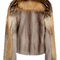 Mink fur with cross fox fur panel jacket by sally lapointe | moda operandi