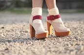 shoes,high heels,wood heels,chunky heels,cute high heels