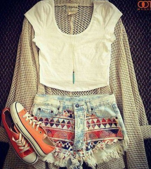 blouse tribal shorts jacket