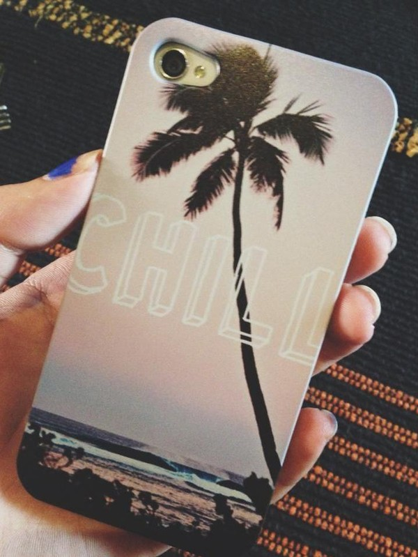 bag iphone 5 case iphone case iphone cover iphone 4 case chill palm tree beach phone cover