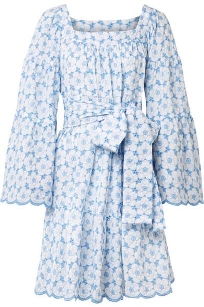 Lisa Marie Fernandez dress light cotton blue light blue