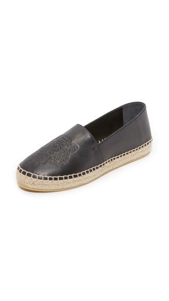 tiger noir espadrilles leather shoes