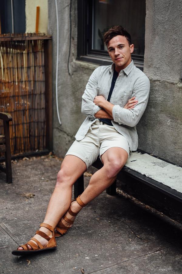 scout sixteen menswear blogger shorts shirt mens shirt mens shorts sandals