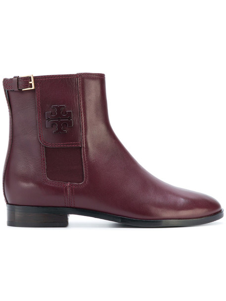 Tory Burch women ankle boots leather red shoes