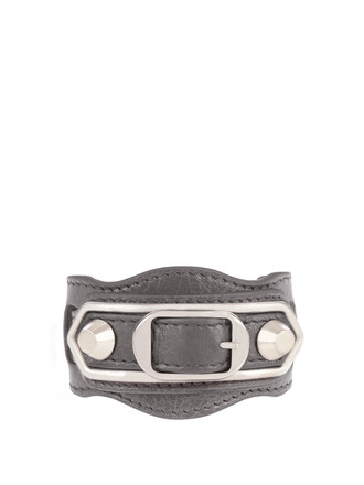 metallic classic leather grey jewels