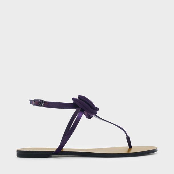 bow sandals purple shoes