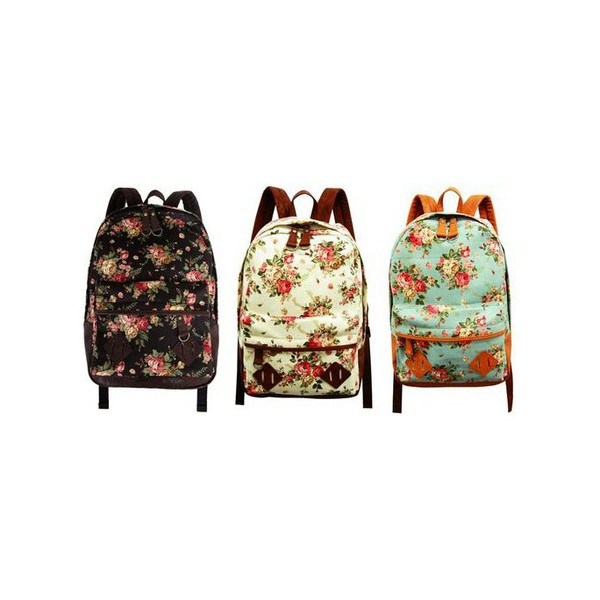 bag backpack floral backpack floral
