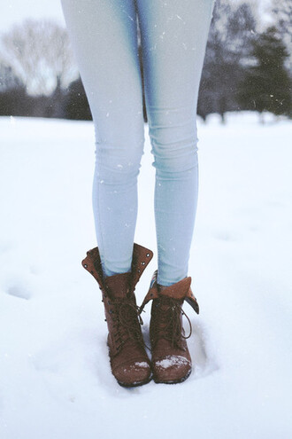 boots fall outfits winter boots brown boots brown shoes light pale light jeans outfit idea jeans light blue light blue jeans