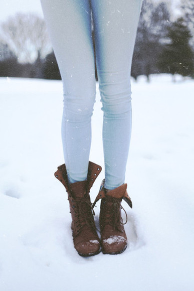 winter boots brown shoes boots brown boots fall outfits light pale light jeans outfit idea jeans light blue