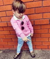 guys,polo shirt,polo sweater,ralph lauren,jeans,pink,leopard print,loafers,sunglasses,swag,fashion,kids fashion,kids with swag