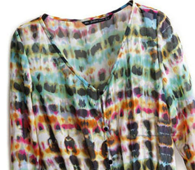Vintage Chiffon Long Sleeve Boho Gypsy