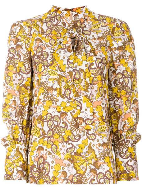 Chloe blouse women floral silk top