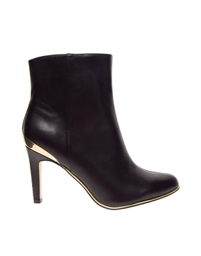 River Island | River Island Mid Heel Metal Trim Boot at ASOS