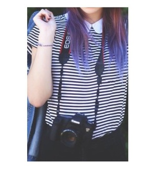 top acacia brinley striped shirt