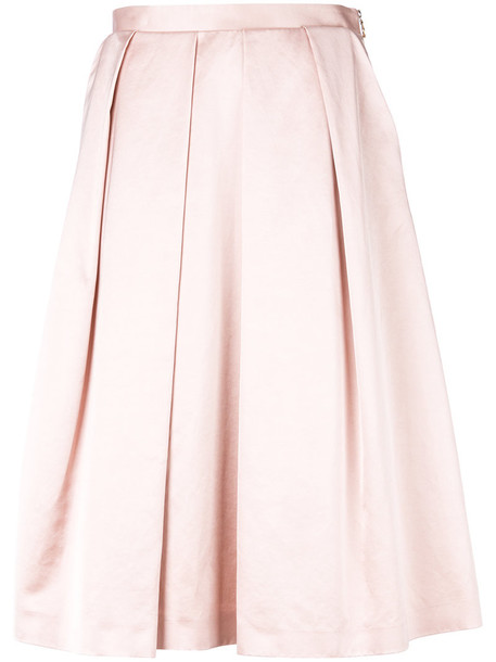 PS By Paul Smith skirt pleated women cotton purple pink