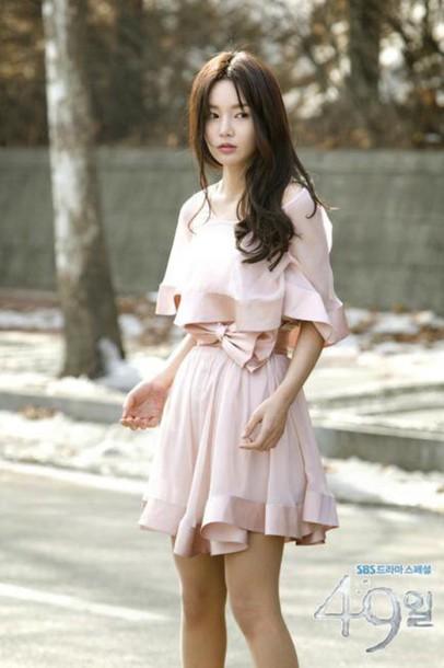 dress pink cute pink dress korean drama