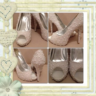 pearl pearl shoes wedding shoes prom shoes special occasion amazing classy hand made sparkle shoes style smart shoes heals unique shoes