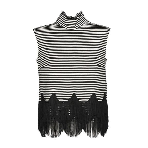 Marc Jacobs top sleeveless white black