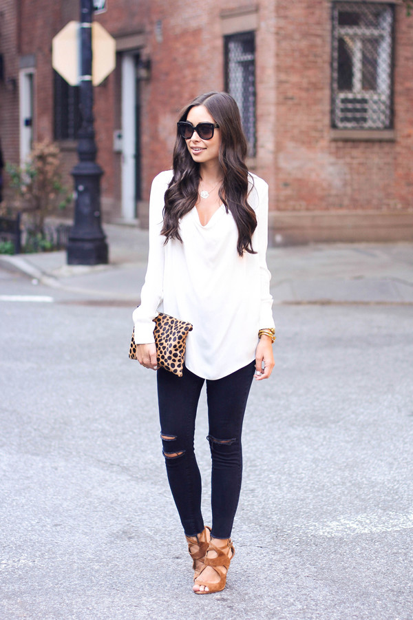 with love from kat blouse jeans shoes jewels sunglasses bag