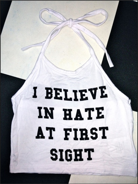 SWEET LORD O'MIGHTY! HATE AT FIRST SIGHT HALTER