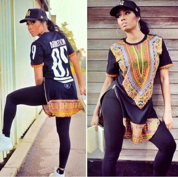 T shirt ariation streetwear african style dashiki for Urban streetwear t shirts