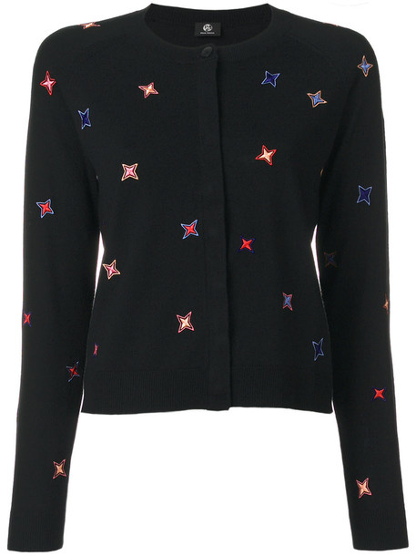 PS By Paul Smith cardigan knitted cardigan cardigan embroidered women black wool sweater